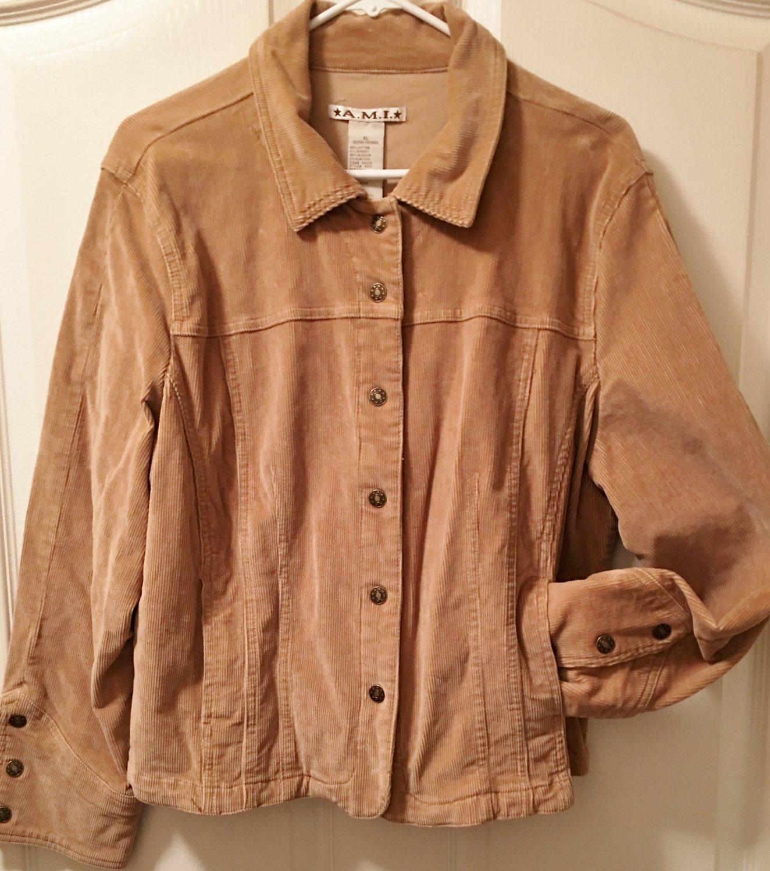 NEW Ladies CORDURORY JACKET A.M.I. Coat XL (16) CAMEL TAN Cotton Blend