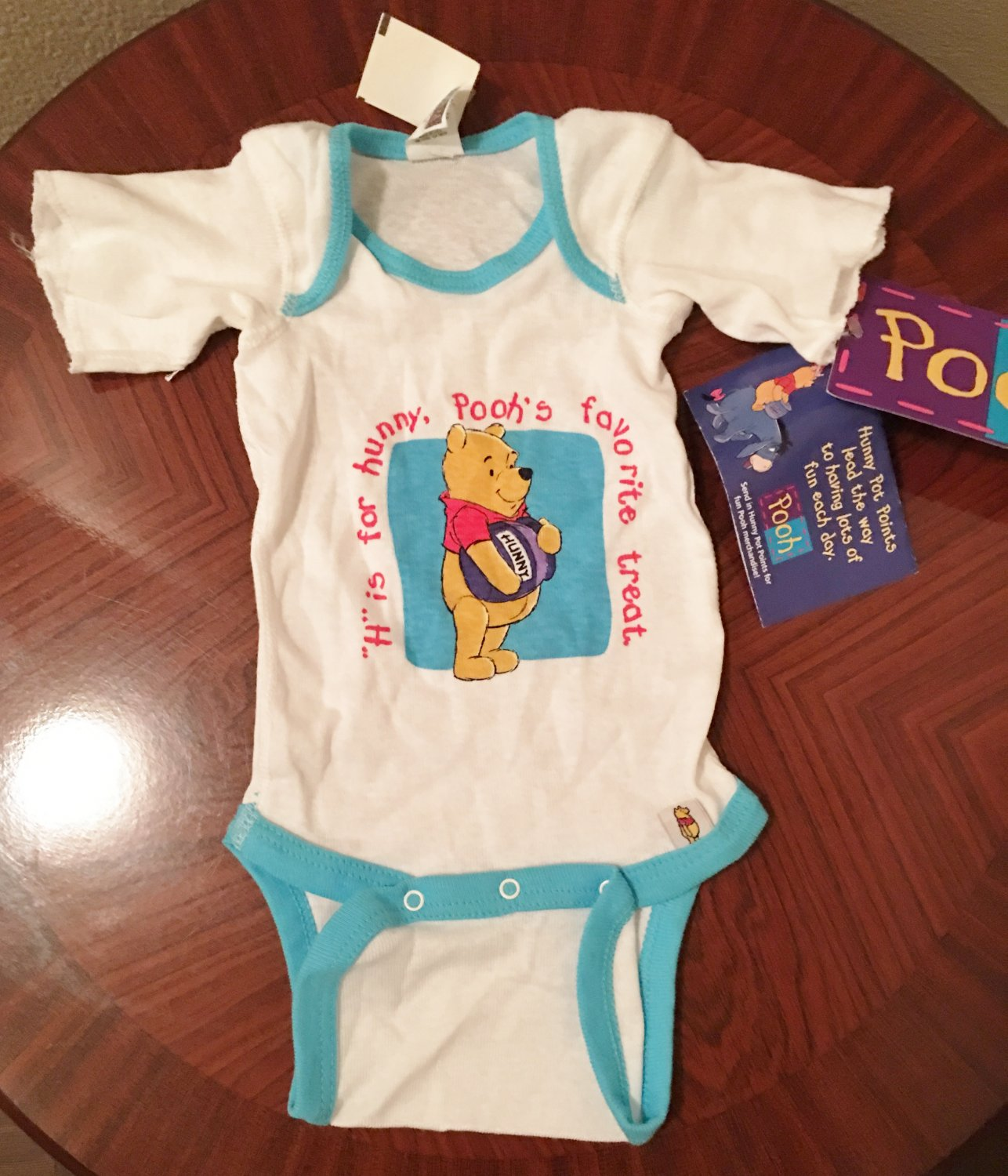 NWT Baby WINNIE the POOH One Piece Infant Bodysuit NEWBORN 100% Cotton