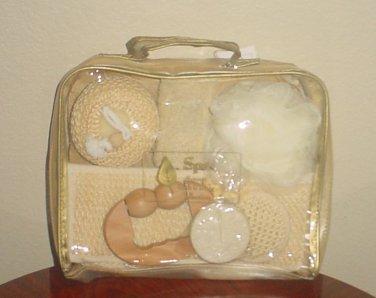 New SPA BATH & BODY SET in TRAVEL CASE Ladies 8 PIECE Gift