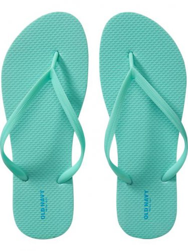 NEW Ladies FLIP FLOPS Old NavyThong Sandals SIZE 10 SEAFOAM GREEN Shoes