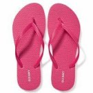 NEW Womens Old Navy FLIP FLOPS Thong Sandals SIZE 7 BRIGHT PINK Shoes