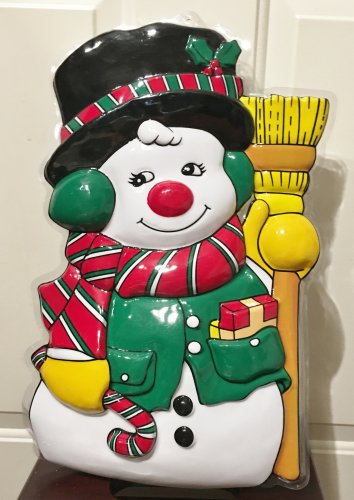 New CHRISTMAS DECOR Door Wall Hang FROSTY the SNOWMAN Holiday Home