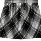 New MISSES Old Navy TARTAN SKIRT Mini SIZE 4 GRAY/BLACK PLAID fully Lined
