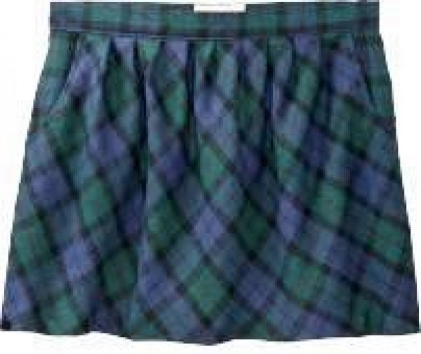 NEW Ladies Old Navy TARTAN PLAID SKIRT Mini with Pockets SIZE 6  BLUE/GREEN Fully Lined