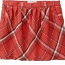 NEW Ladies Old Navy PLAID SKIRT Mini with Pockets SIZE 10 RED Fully Lined