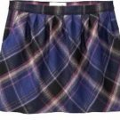 NWT MISSES Old Navy TARTAN SKIRT Mini with Pockets SIZE 4 PURPLE PLAID Lined
