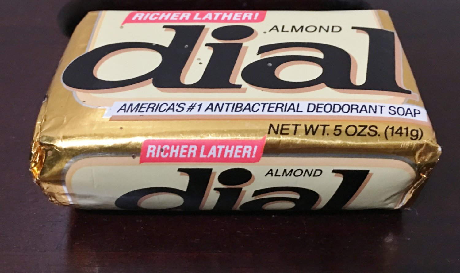 NEW Vintage DIAL SOAP BAR Almond ORIGINAL PACKAGING Sealed Large 5 oz