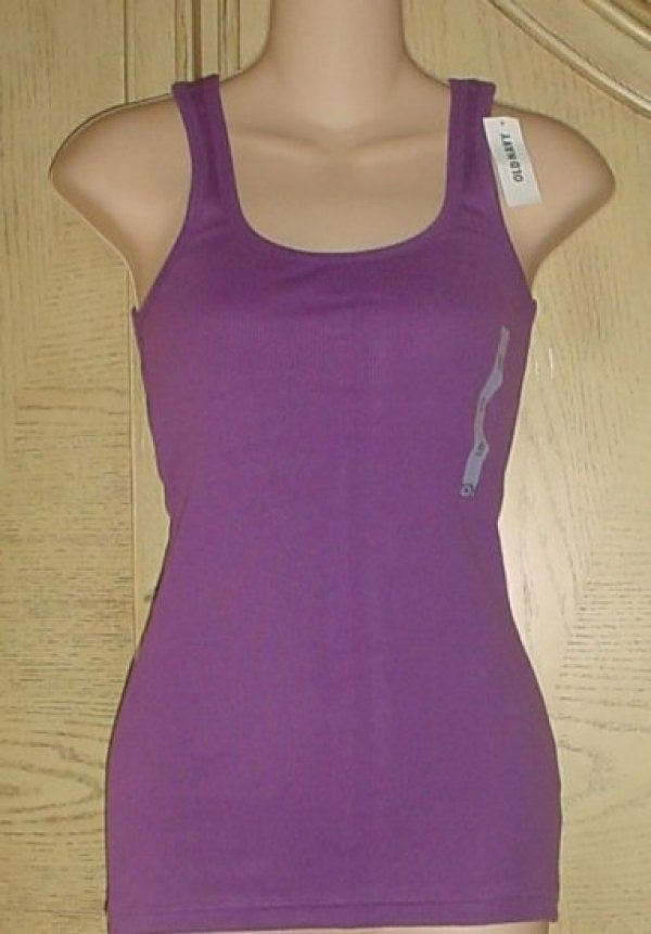 NWT Ladies OLD NAVY PERFECT TANK TOP Ribbed Tee XL PURPLE Cotton