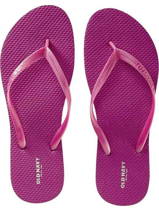 LADIES Old Navy FLIP FLOPS Thong Sandals SIZE 11 FUCSHIA PINK Shoes