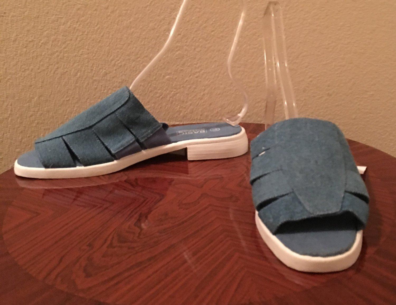 Ladies DENIM SANDALS Size 11 M Shoes BLUE Comfort Slides