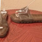DKNY JELLY SANDALS Ladies Slides SIZE 11 SMOKY BROWN Beach Pool Shoes