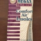 MENS AIR INSOLES Megas Comfort Foam Shoe Inserts 2 PAIR PACK Size 8-9