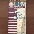 MENS AIR INSOLES Megas Comfort Foam Shoe Inserts 2 PAIR PACK Shoe Size 10-11