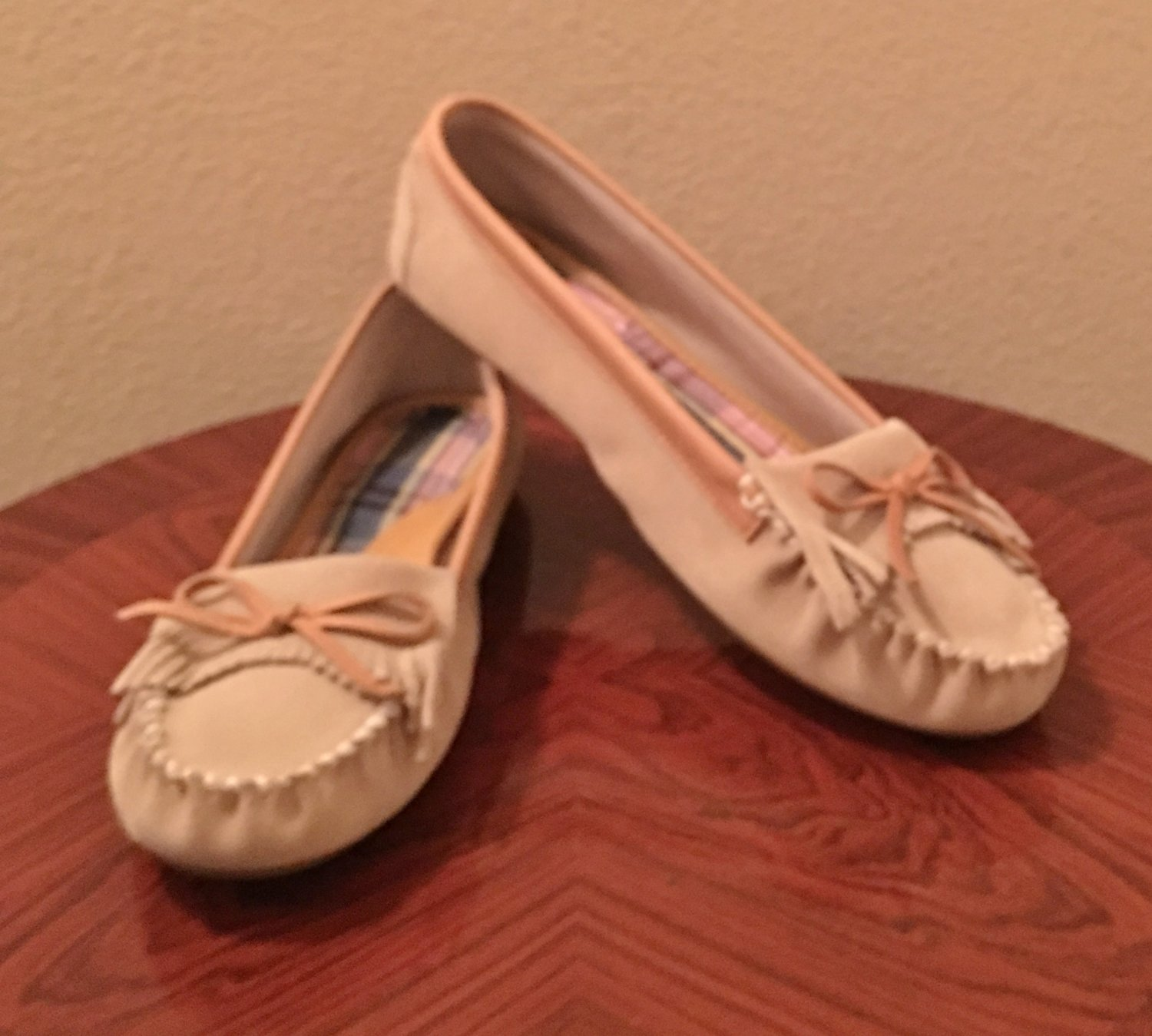 NEW Tommy Hilfiger LOAFER MOCCASIN Ladies Shoes SIZE 11 M Tan Suede Flats
