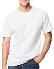 Mens HANES T-SHIRTS 3 Pack CREW NECK Short Sleeve  XL Cotton WHITE NEW