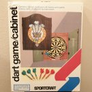 NIB DARTS CABINET Sportcraft PRINCE OF WALES Cabinet,Board & Accessories RARE