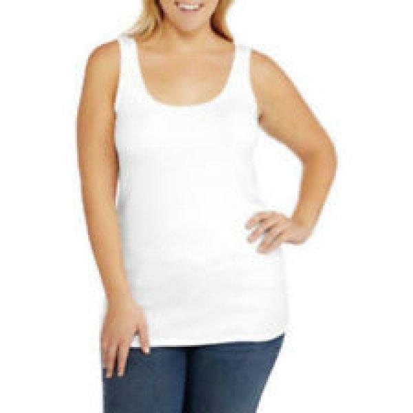 NWT Old Navy TANK TOP Ladies Stretch Tee XL WHITE T-Shirt