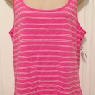 NWT Old Navy TANK TOP Ladies Stretch Tee XL T-Shirt BRIGHT PINK Stripe