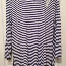 NEW Ladies TUNIC TOP Old Navy Blouse XL Stretch Jersey NAVY/WHITE STRIPE