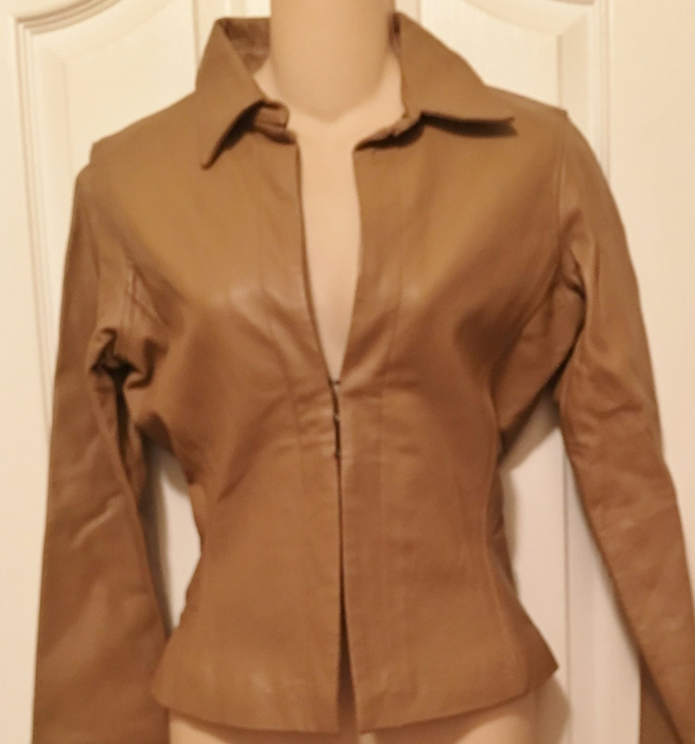 NEW Rampage LEATHER JACKET Ladies Coat Fully Lined SMALL Camel Tan