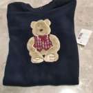 NEW Baby FLEECE SLEEPER Okie Dokie One Piece Infant Pajamas 18 Months NAVY BLUE