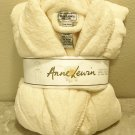 NWT Ladies PLUSH ROBE Anne Lewin Wrap Spa Bathrobe PALE YELLOW with Pockets XL