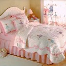 Girls BALLERINA QUILT Kids Expressions Handcrafted TWIN 100% Cotton Bedding Coverlet