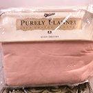 NWT FLANNEL SHEET SET Merona 4 Piece QUEEN Pre Shrunk Cotton PINK