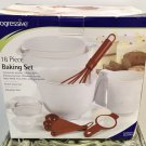 NIB 16 PIECE BAKING SET Progressive Starter Mix Bowls, Measure Cups,Sifter,Whisk