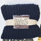 NWT CHENILLE THROW Berkshire Life Ribbed NAVY BLUE Oversized 60x70 Home Decor