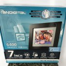 NIB Pandigital DIGITAL PHOTO FRAME 1 GB STORES 6400 iMAGES 3 Mats