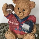 NEW Vintage CERAMIC PIGGY BANK Football Player Bear Coin Money COLLECTIBLE