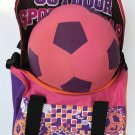 NEW Girls BACKPACK GYM BAG and SPORTSBALL Gift Set 6 Piece PINK/ PURPLE Wrapped with Bow