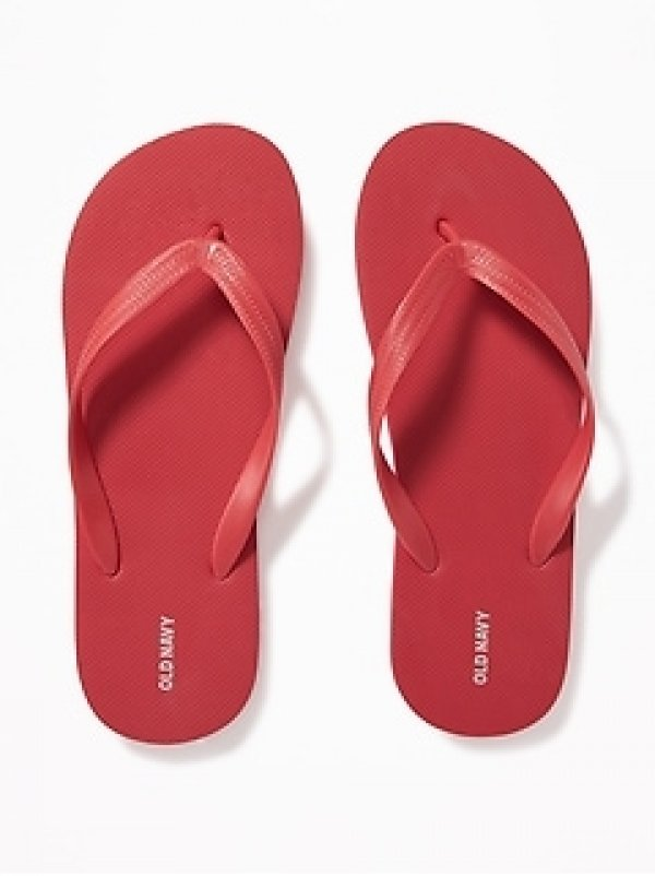 NEW Men's FLIP FLOPS Old Navy Sandals SIZE 12-13 RED Shoes pool beach