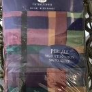 New KING PILLOWCASES Calypso MULTI COLOR PLAID No Iron Cotton Percale QTY 2