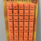 New LUMINARY PUMPKIN LIGHTS Indoor/Outdoor STRING OF 35 Super Bright Blinking