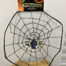 HANGING SPIDERWEB Halloween Decor with Spider BLACK