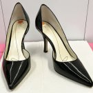 Anne Klein PUMPS Stiletto Heels SIZE 9 Ladies Shoes BLACK Patent Leather