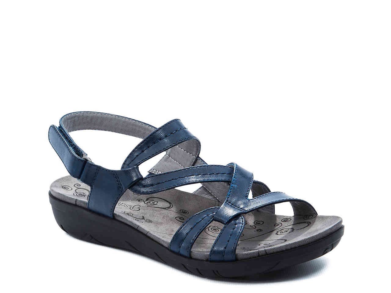 NEW Bare Traps SANDALS Jaycee Comfort Shoes SIZE 11  NAVY BLUE Leather