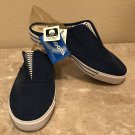 NWT Ladies SNEAKER MULES Athletic Shoes SIZE 11 NAVY BLUE Canvas Slip Ons