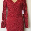 NWT LACE DRESS Charlotte Russe  SMALL Fully Lined RED Party Cocktail