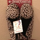 NWT Ladies Dearfoams SLIPPERS Shoes SIZE 11-12 ANIMAL PRINT Indoor/Outdoor