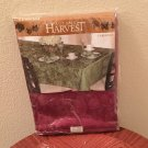 AUTUMN HARVEST TABLECLOTH Rectangle 52 x 70 CABERNET RED Damask NEW