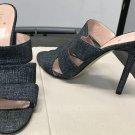 KATE SPADE Heels Ladies Slide Sandals BLUE DENIM Size 8 Shoes