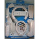 8-in-1 Sports Accessories Kit for Wii