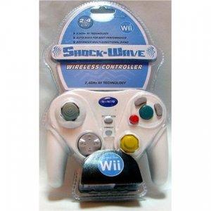 Nintendo Wii ShockWave Wireless 2.4GHZ Controller - White