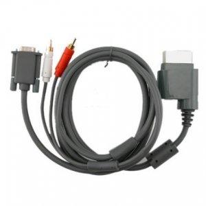 6ft Premium VGA Cable w/ Digital Optical Audio Port for Microsoft Xbox 360 to TV equipment
