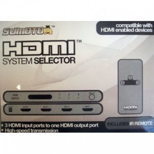 Sumoto 3-Port Tri-Input HDMI Selector with Remote Control
