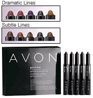 Avon Get In Line Glimmersticks Gift Set Dramatic Lines ~ Purse Size location2