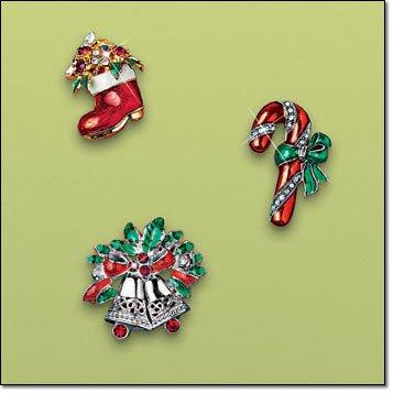 Avon Holiday Pin Candy Cane ~ NIB ~ Christmas Costume Jewelry Brooch